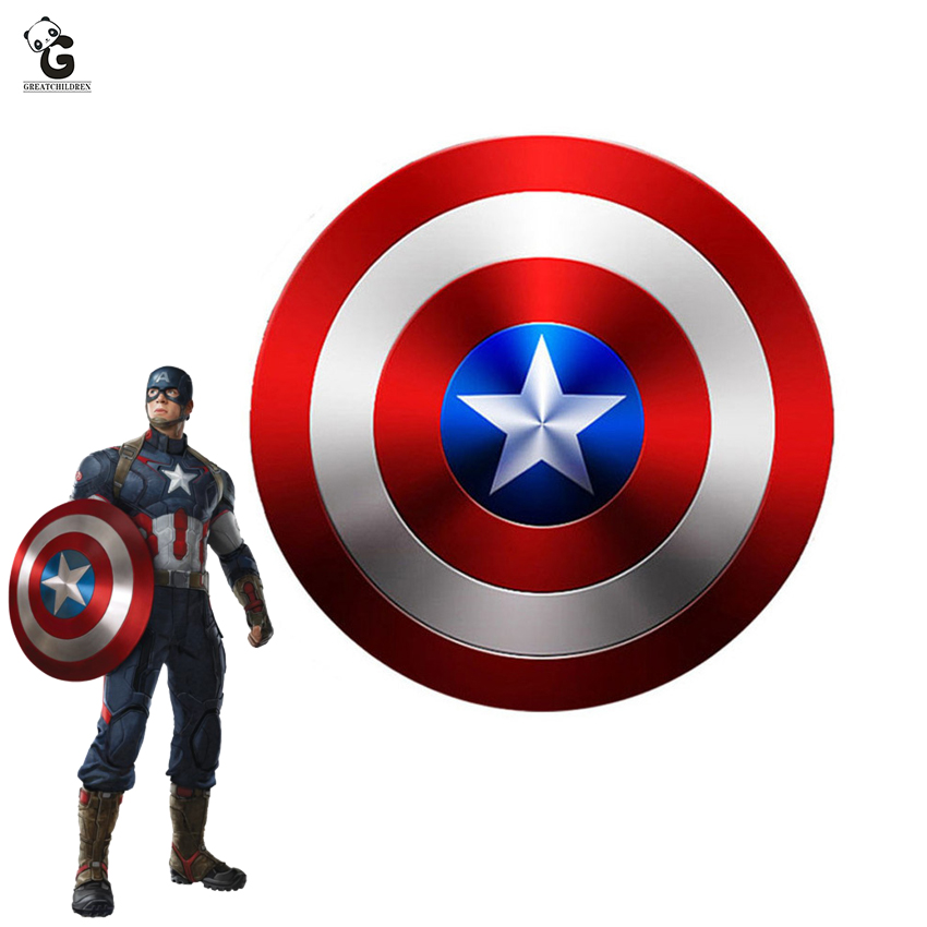 Captain America Metal Shield For Steven Rogers Cosplay Prop Captain America Metal Shield Halloween Shield For Men Props