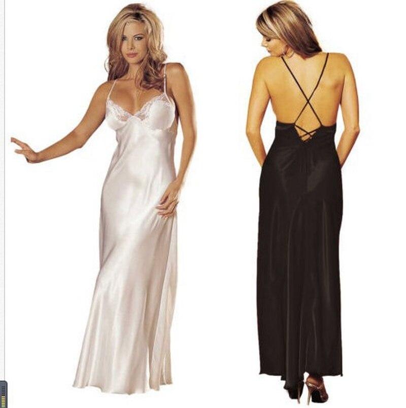U Swear Women Summer Silk Stain Nightgowns Nightwear