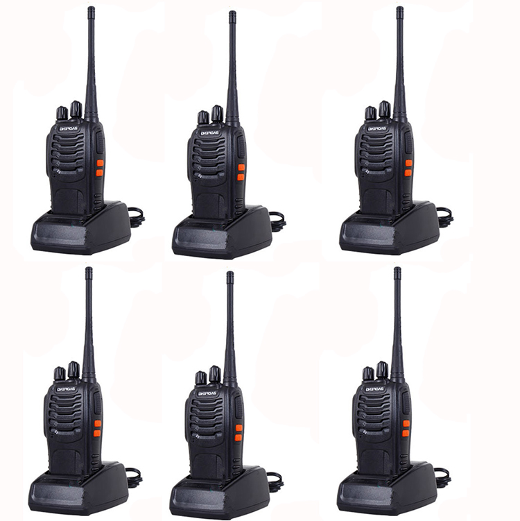 Big sale 6pcs walkie talkie Radio Transmitter Transceiver BF 888S baofeng bf888s forTwo Way Radio ham
