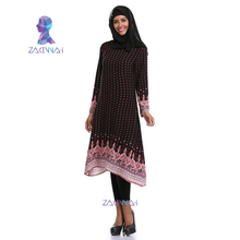 New Arrival Plus Size Ethnic Printed Dubai Abaya Dress Turkish Muslim malaysia clothes Ladies Dress