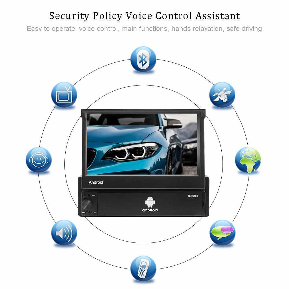"""Podofo 1din 7 """"アンドロイド 8.1 タッチスクリーン車のラジオマルチメディアプレーヤー Gps ナビゲーション Wifi Bluetooth MP5 オーディオ用ユニバーサル"""