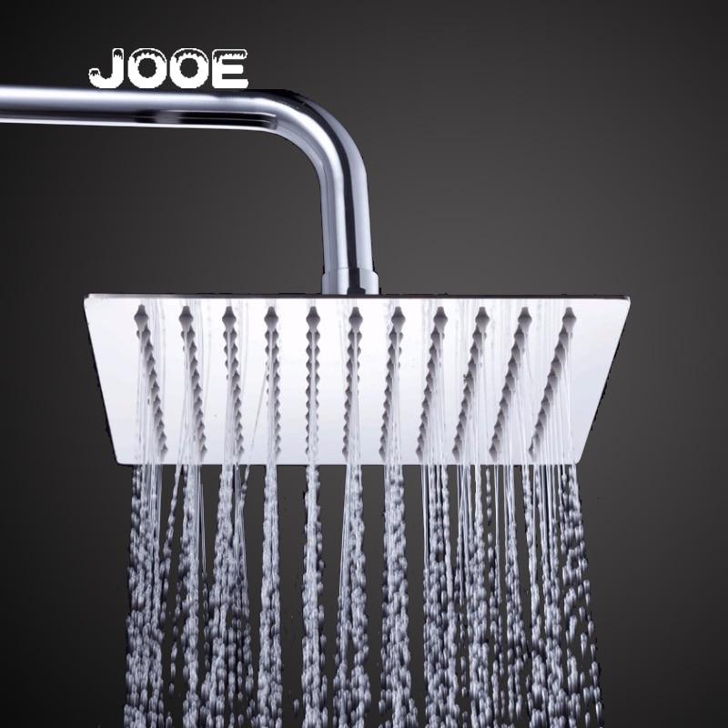 JOOE 30cm * 30cm Square Shower Head Rainfall Stainless Steel Showerhead waterfall ceiling Shower Rain Chuveiro Ducha je025 стоимость