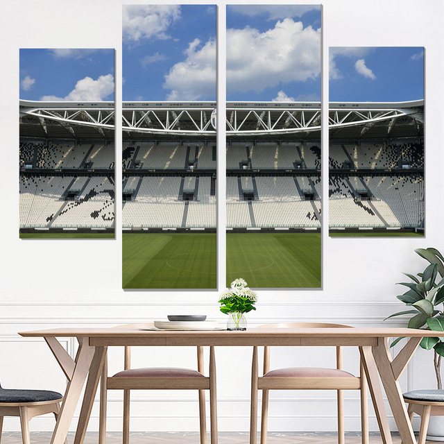 Canvas Painting Juventus Wall Poster Oil Art Print Photo Decorative Pictures Giclee