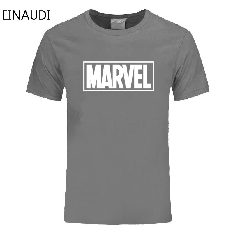 Einaudi New Fashion Marvel T-shirt Men Cotton Short Sleeves Casual Male Tshirt Marvel T Shirts Men Tops Tees Free Shipping #6