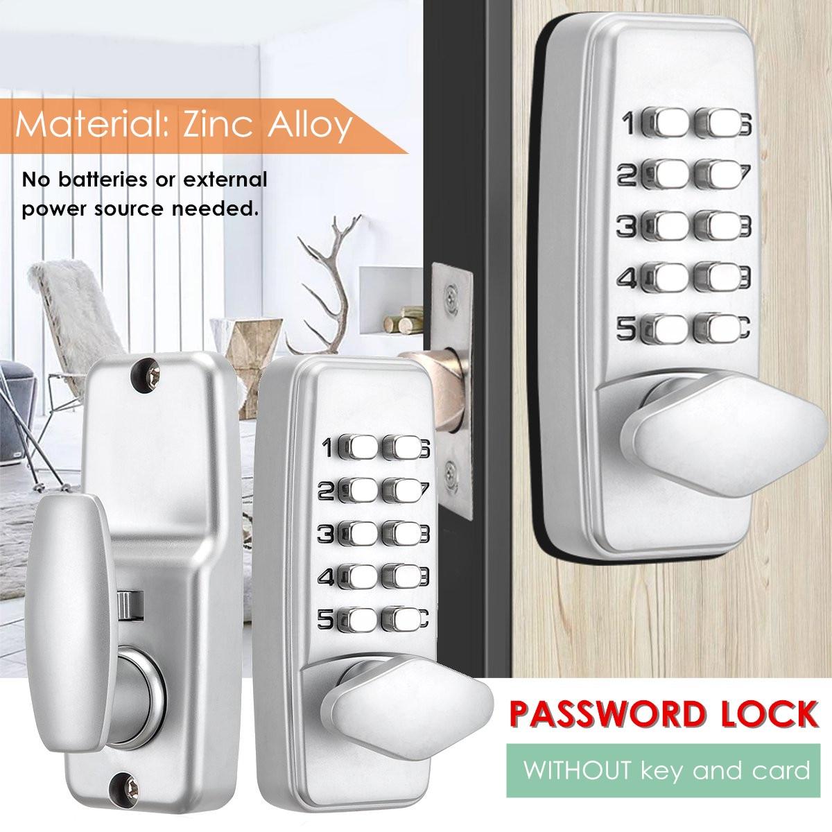 Serratura meccanica Keyless Password di Sicurezza di Blocco di Codice Digitale di Ingresso Esterno Meccanismo di Blocco di Controllo di Accesso Set di AccessoriSerratura meccanica Keyless Password di Sicurezza di Blocco di Codice Digitale di Ingresso Esterno Meccanismo di Blocco di Controllo di Accesso Set di Accessori