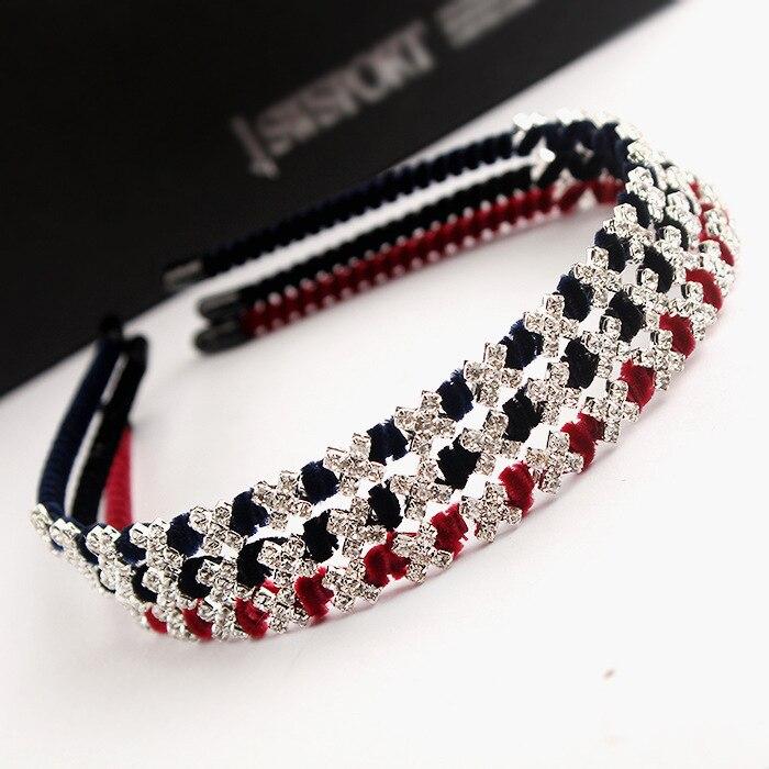 Asli rambut Han edisi hiasan kepala headwear bunga Korea Selatan berlian  imitasi rambut hoop berliku kepala band 4d70065a725a