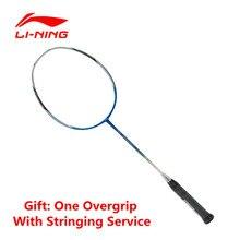Li-ning badminton raqueta hc1250 raqueta de fibra de carbono de tipo moderado lining aypk084 sports control del balón con el sobregrip(China (Mainland))