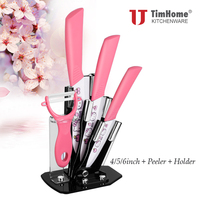 Timhome 4 Peeling Ceramic Knife 5 Utility Ceramic Knife 6 Chef Ceramic Knife Freeshipping