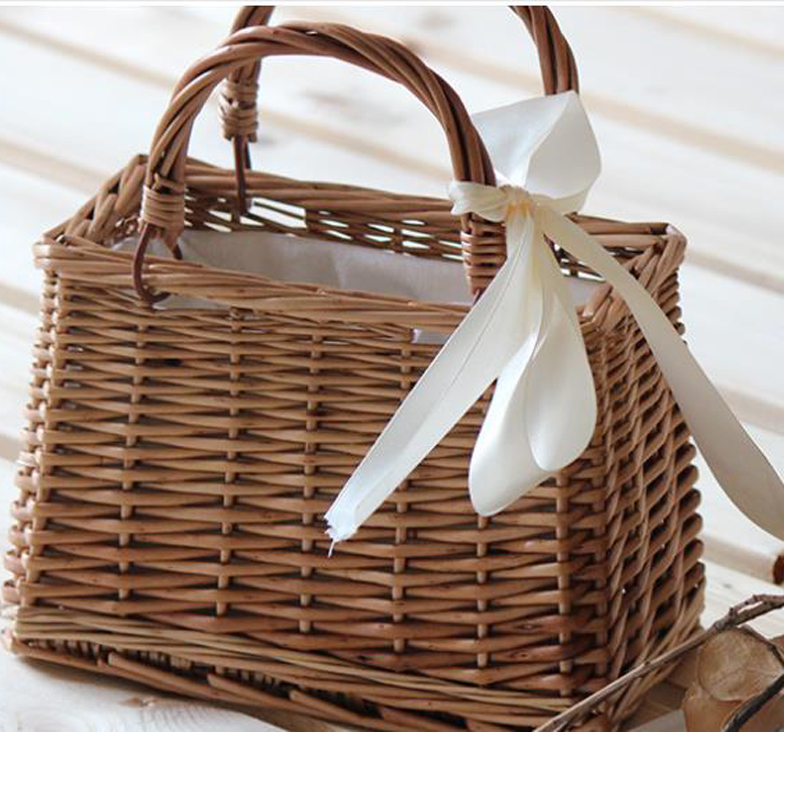 2018  Vietnam Style Straw Bags Vintage Designer Beach Bag for Women Rattan Handbags Travel Tote Clutch Lunch Hand bag handmade flower appliques straw woven bulk bags trendy summer styles beach travel tote bags women beatiful handbags
