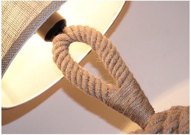 Vintage Table Light de mesa lamp  Vintage mesaLamps Rope Table Lamps LED Bedroom Lamps