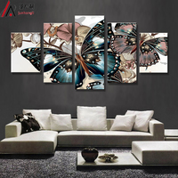 HD Printed Abstract Floral Butterfly Painting On Canvas Room Decoration Print Poster Picture Canvas Free Shipping