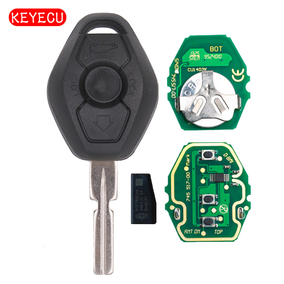 2 Replacement For 1997 1998 1999 2000 2001 2002 2003 BMW 540i Key Fob Remote