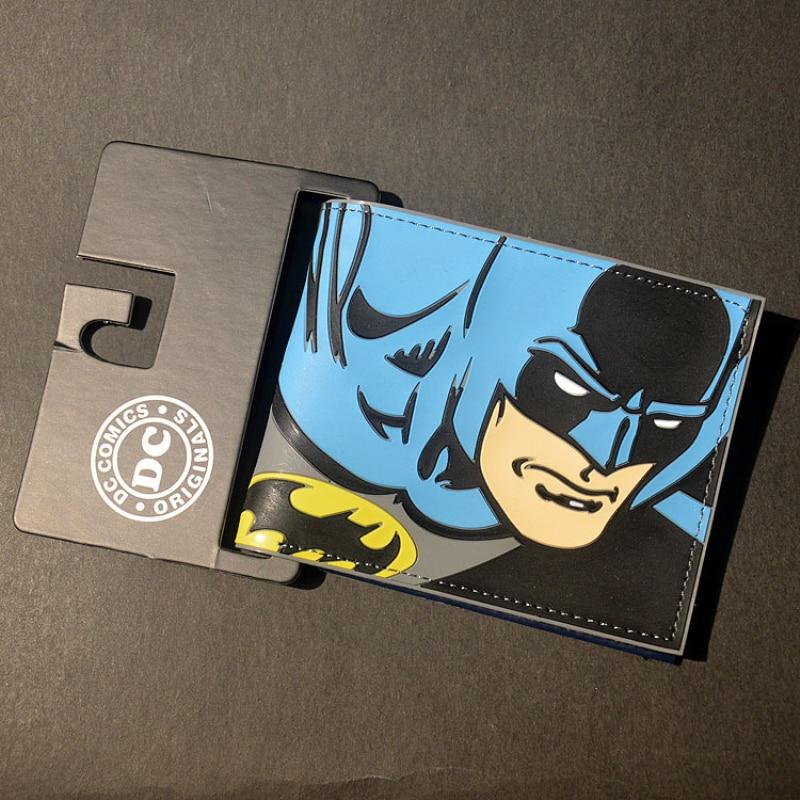 Comics Dc Marvel The Avengers Cartoon Wallet Batman Flash Superman Iron Man 3D Purse Logo Credit Card Holder Man Wallet