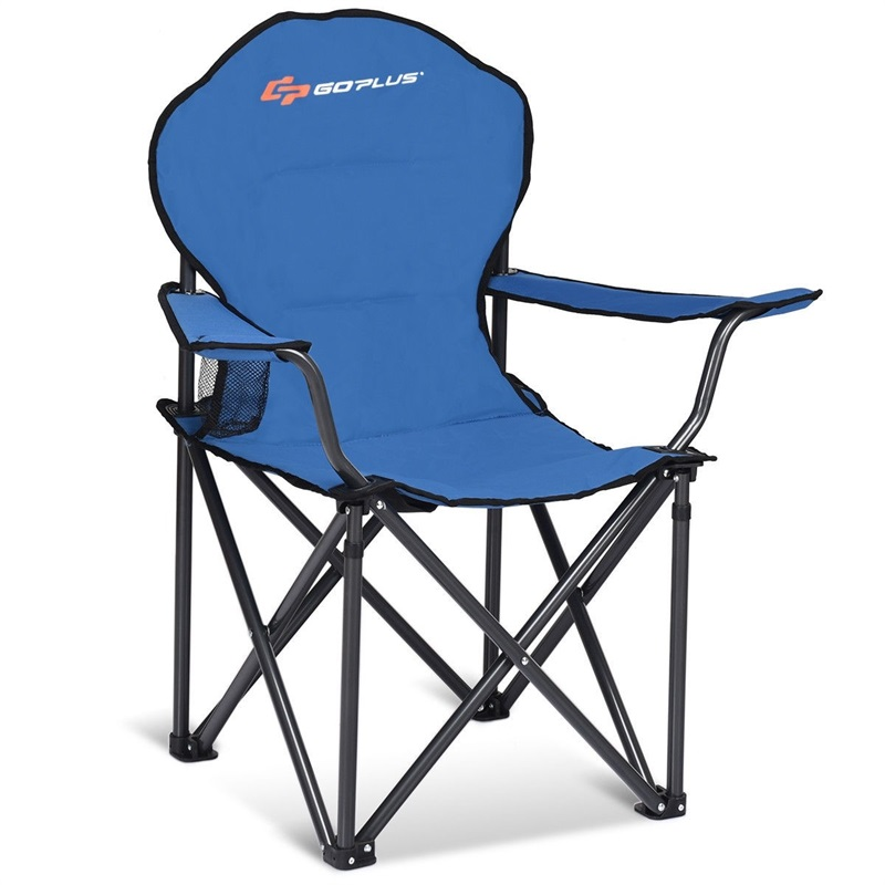 Folding Durable Camping Outdoor High Load-bearing Beach Chair Anti-skid Sleeve High-density Oxford Cloth OP3683