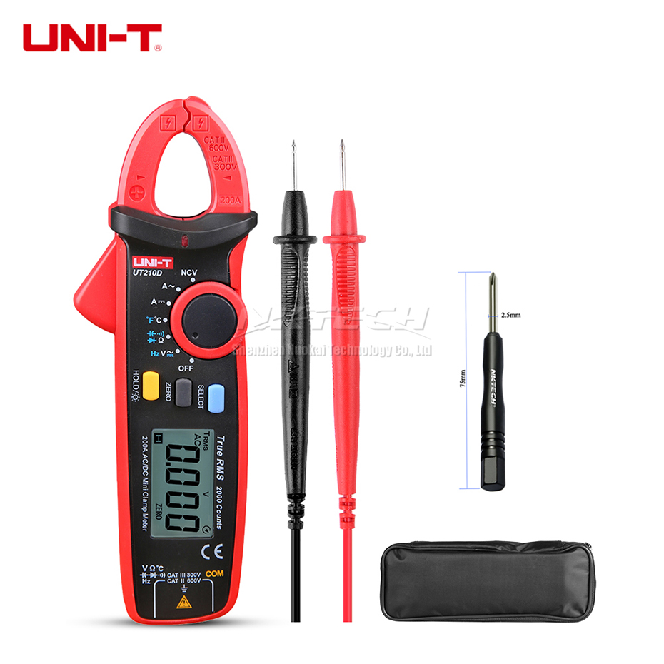 UNI T Digital Clamp Meter UT210D UT210E UT210C UT210B UT210A True RMS Auto Range AC DC 200A Capacitance Temperature Frequency