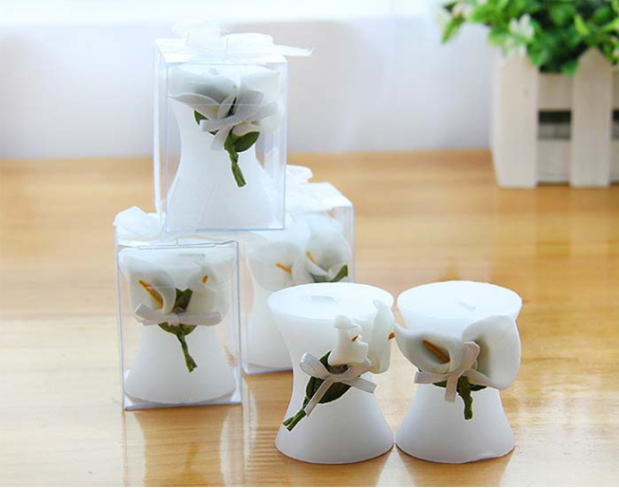 20pcs Flower Lily Candle  For Wedding Party Birthday Souvenirs Gifts Favor Souvenirs Souvenir