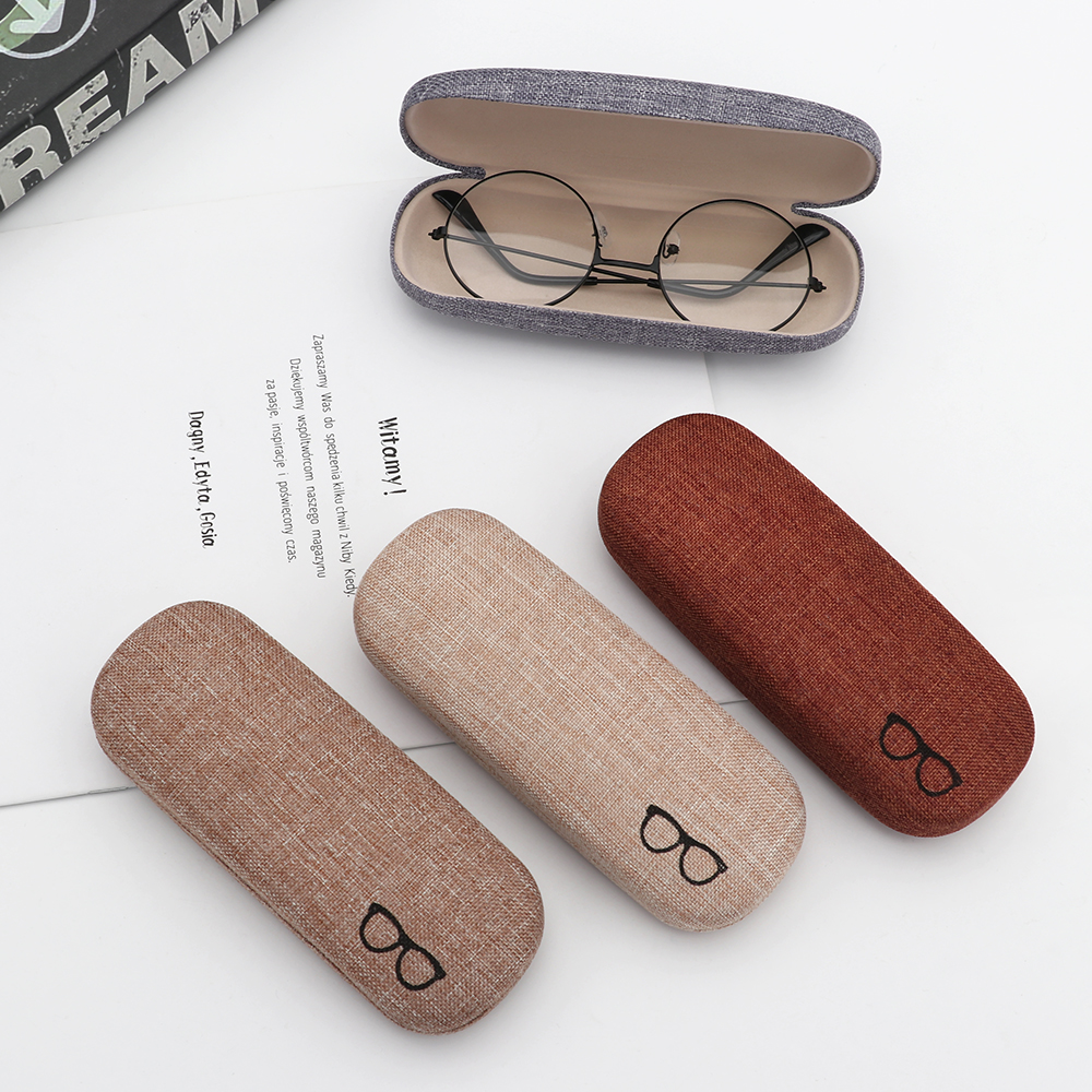 1Pcs 2019 New Fashion Men Women Kids Leather Eye Glasses Hard Shell Protector Reading Eyewear Case Portable Sunglasses Box Case