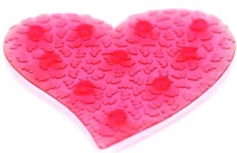 Rubber floor mats bathroom - Heart Mini Non Skid Non Slip Silicone Area Door Floor Mat Pad Bath Tub