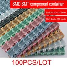NOVFIX 100pcs/lot SMD SMT component container storage boxes electronic case kit the 1# Automatically pops up patch box цена 2017