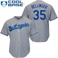 MLB Men S Los Angeles Dodgers Cody Bellinger Majestic Gray Cool Base Player Replica Jersey