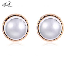 Badu Round Metal Clip Earrings for Women Cute Lovely Small Earring Fashion Party Jewelry Wholesale