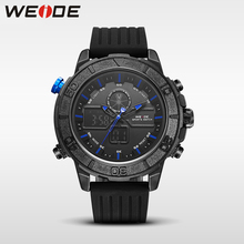 WEIDE genuine brand luxury silicon watch sport digital led quartz men's watch water resistant analog automatic watch military цена