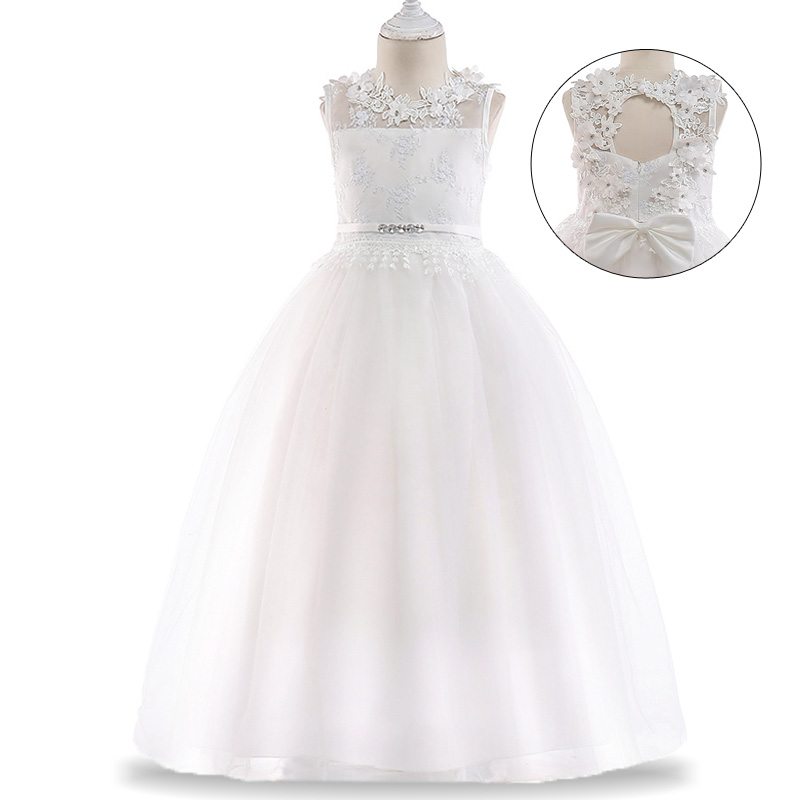 226b2a515dc3 Kids Bridesmaid Lace Flower Girls Dress For Wedding and Party Dress ...
