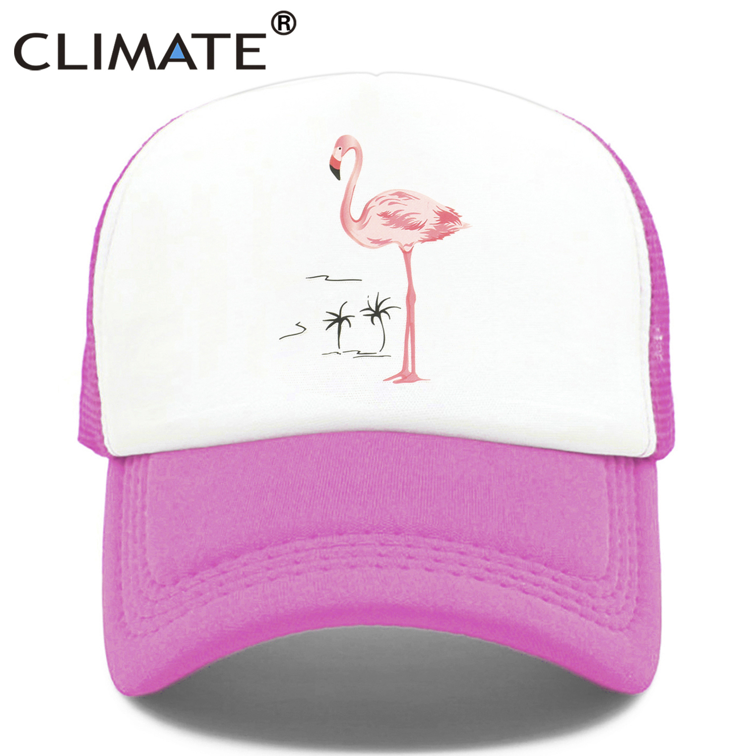 cdf0df2a9 CLIMATE Flamingo Cap Girls Women Hat Pink Rose Cap Cute Lovely ...
