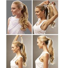 Long Curly Clip In Hair Ponytail Hairpiece Synthetic Extension