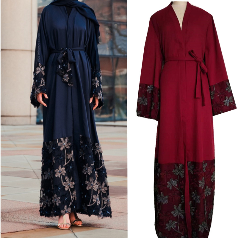 Kaftan Robe Dubai Abaya Kimono Muslim Hijab Dress Abayas Women Caftan Marocain Qatar UAE Oman Turkish Elbise Islamic Clothing