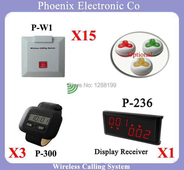 Sistema de Llamada Restaurante camarero Llamar Al Cliente Con Campana de la Tabla Y el Receptor Y Los Relojes de Pulsera Mostrando 2 Llamadas de Grupo