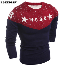 ROKEDISS High Quality Autumn Winter Soft Warm Knitted Cashmere Sweater Men Sweaters Casual O-Neck Pullover Men Sweater Z206
