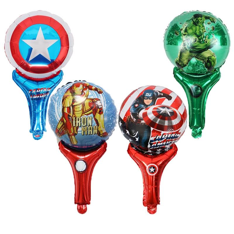 30pcs handheld Captain America Shield foil balloons