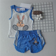 2017 SUMMER tennis rabbit kids sport vest and legging for boys girls kids  2 PCS sets