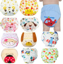 1Pcs Cute Baby Diapers Reusable Nappies Cloth Diaper Washable Infants Children Cotton Training Pants Panties Nappy Changing