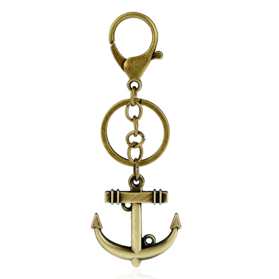 Anchor ornaments - 6 Colors Vintage Anchor Keychain Key Chain For Women Men Punk Style Insect Scorpion Pendant Key