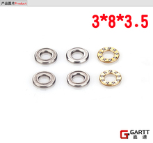 (3 PIECES/LOT)GARTT 450 3*8*3.5 Size Trust Bearing For 450 RC Helicopter 100%  Align Trex