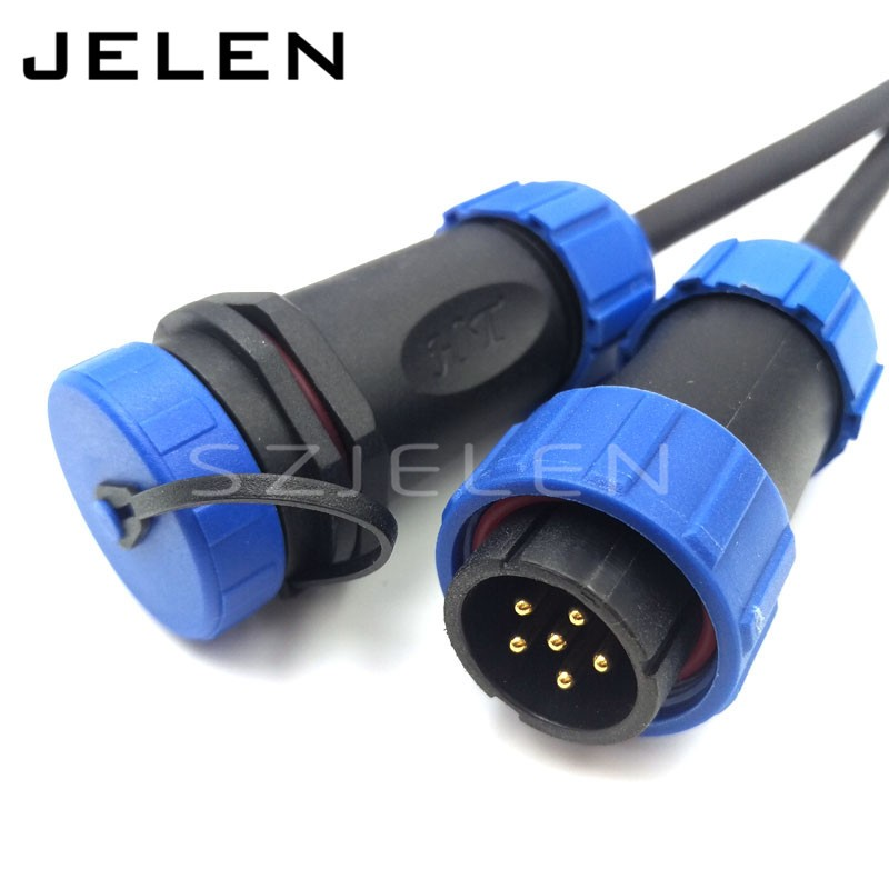 SP2110, waterproof 6pin cable wire connectors, ip68, LED power connector, 6 pin Male Female connectors plug an socketSP2110, waterproof 6pin cable wire connectors, ip68, LED power connector, 6 pin Male Female connectors plug an socket