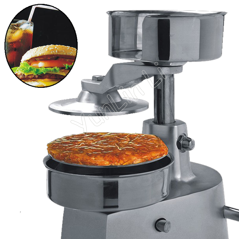 130mm Stainless Steel Manual Hamburger Machine Burger Press Patty Maker Hamburger Mold Burger Printer HF-130