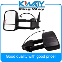Towing Mirrors Set Tow Power Heated LED Signal Pair Fit For 2003-2006 Silverado Tahoe Pickup