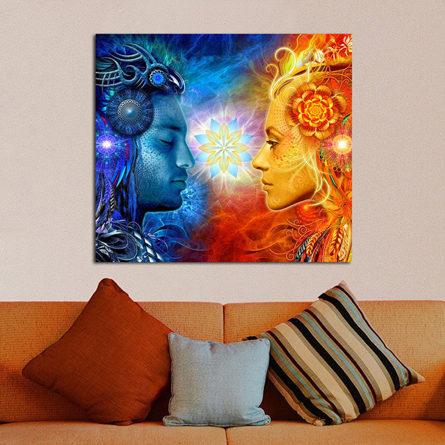 Shiva Tantra Shakti Wall Decor Wall Art Home Decor
