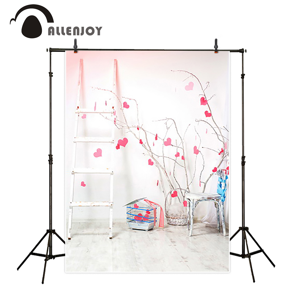 Allenjoy Background for photo Ladder love hearts chair white board Background for photo background for photographic studio маска на глаза white hearts