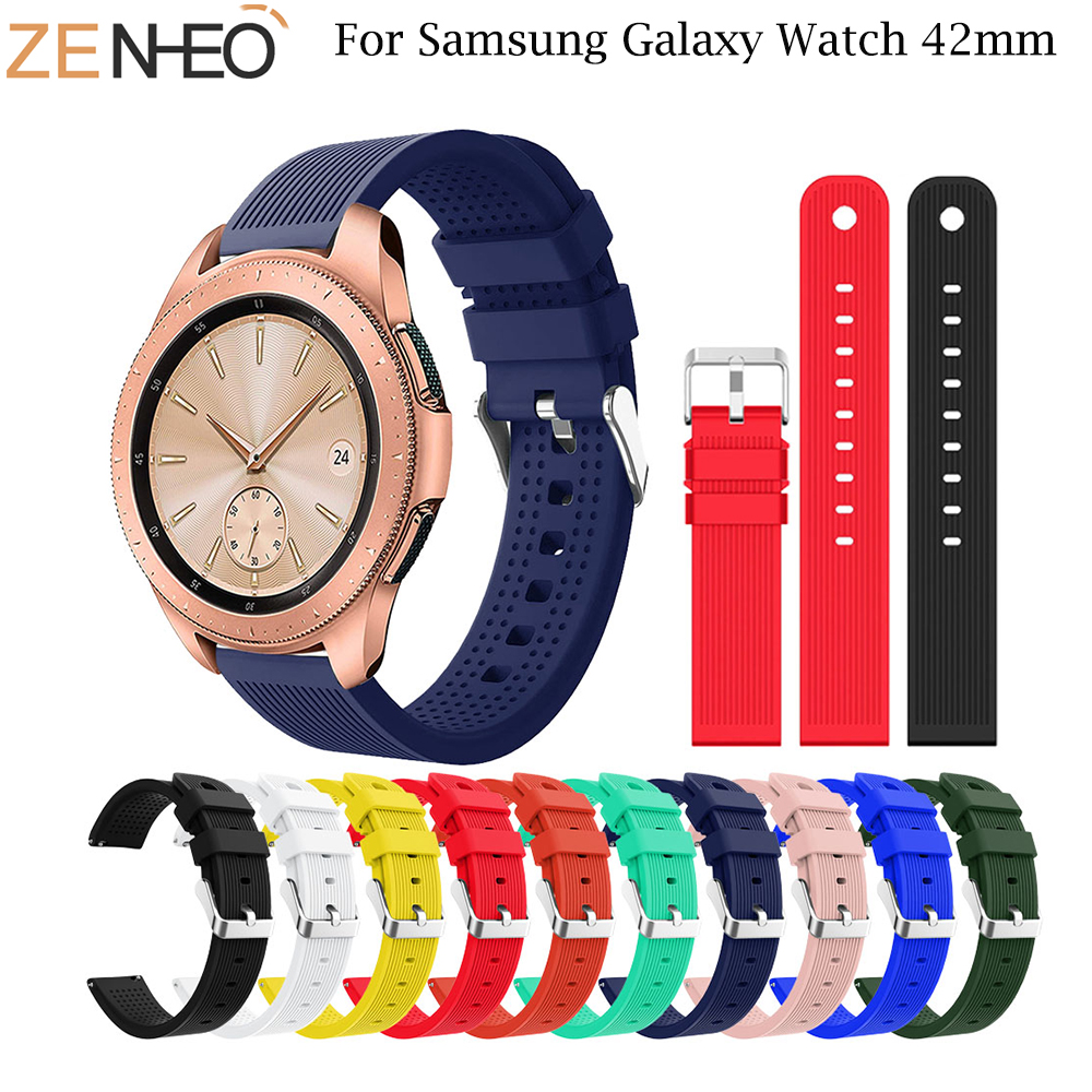 20mm Silicone Replacement Breathable For Samsung Galaxy Watch 42mm Band For Garmin Vivoactive 3