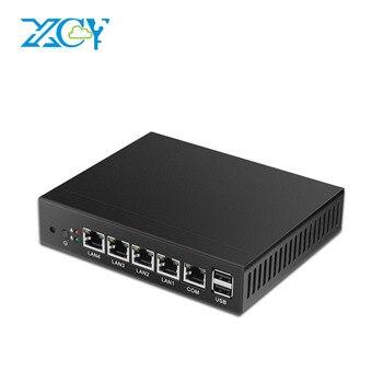 XCY Mini PC Celeron J1900 J1800 Quad-Core 2.0Ghz 4*LAN RJ-45 2*USB VGA Fanless Computer apply to router firewall proxy jc 20130709 1