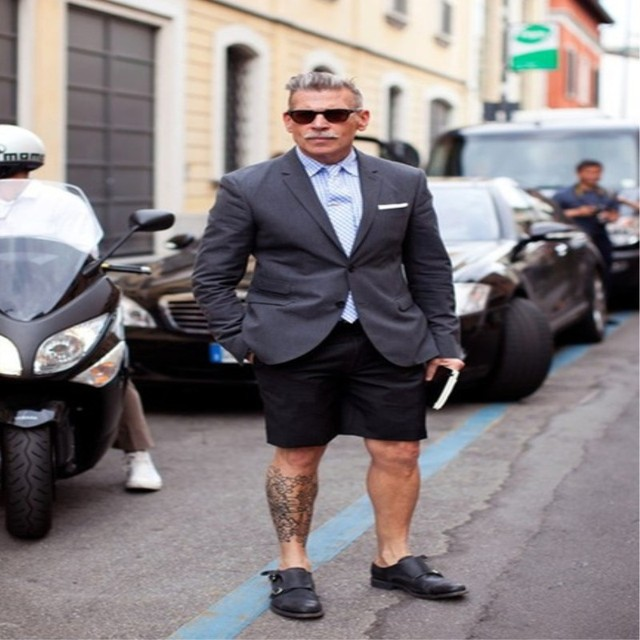 566bdbc5221c Summer Suits 2018 Stylish Short Pants Men Suit Grey Blazer With Black Pants  Casual Tuxedos Terno