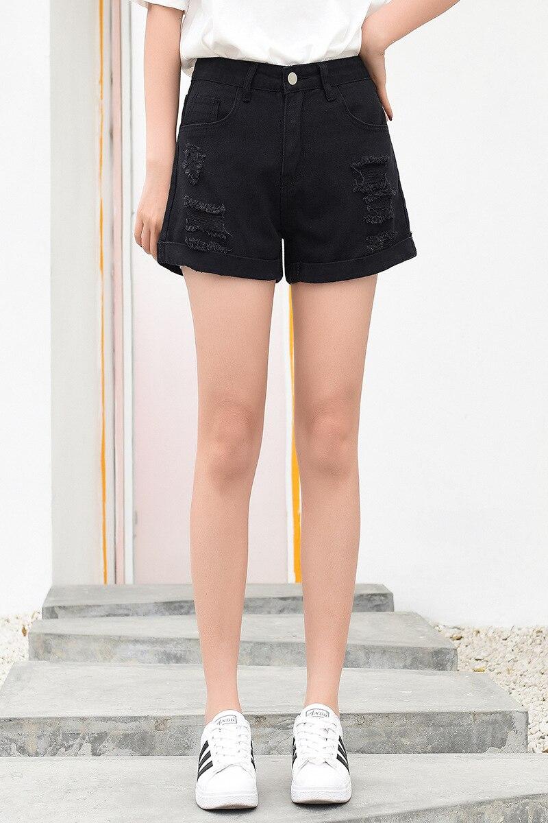 2019 Summer New Korean Edition Big Yards Waist Waist Lady Wide Leg Shorts