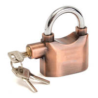 NEW Waterproof Siren Alarm Padlock Alarm Lock For Motorcycle Bike Bicycle Perfect Security With 140dB Alarm
