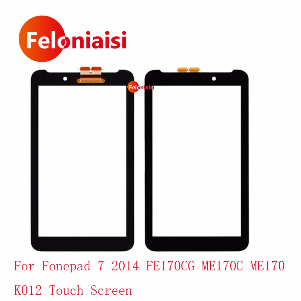 High Quality 7.0 For Asus Fonepad 7 2014 FE170CG ME170C ME170 K012 Touch Screen Digitizer Sensor Outer Glass Lens Panel Black hot sale touch screen for asus fonepad 7 fe375 fe375cg fe375cxg me375 glass digitizer panel replacement black
