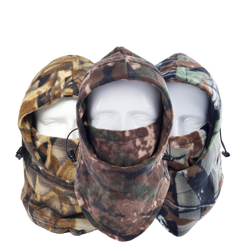 Thermal Fleece Ski Bib Mask Winter Face Mask Cap Face Snowboard Hat Shield Cold Headwear Skiing Cycling Face Mask Scarf