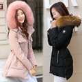 free shipping jaqueta feminina 2016 new Korean plus size slim fit cotton coat long section thick wadding jacket winter casaco